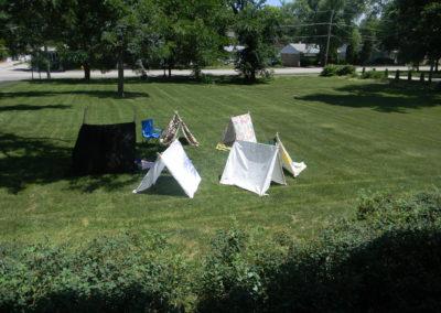 Backyard explorers club: Tents